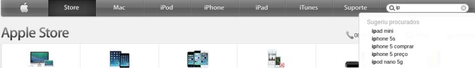 Resultado de busca Apple