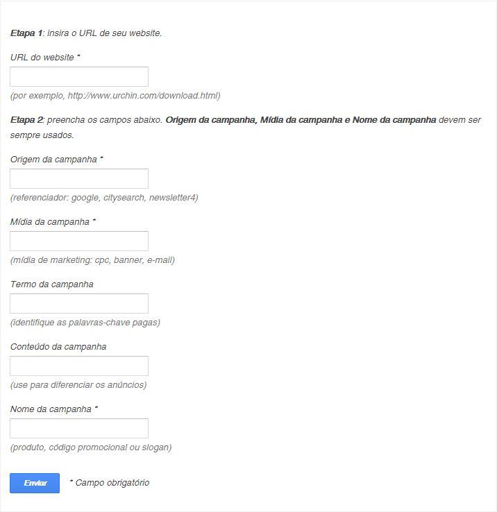 Criador de URL do Google