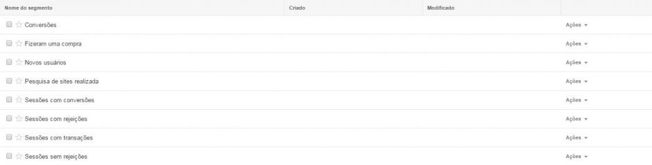 Segmentos do Google Analytics 2
